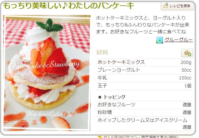 もっちり美味しい私のパンケーキ